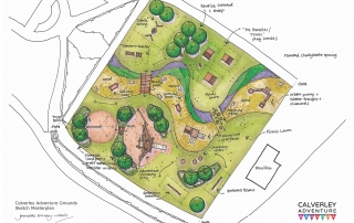 Calverley Adventure Ground sketch plan by Jennette Emery-Wallis, LUC