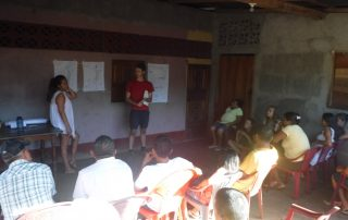 Rhys presenting his ideas to the local community in Nicaragua