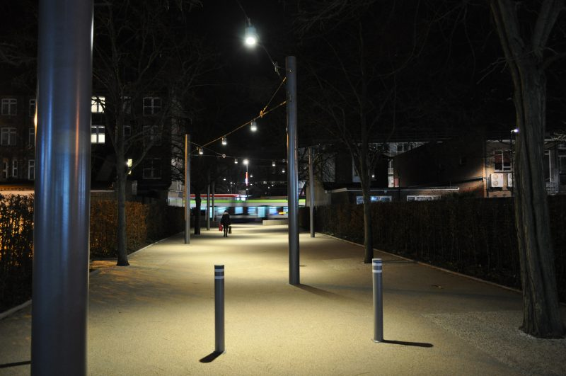 Southern House, Croydon: George St link at night