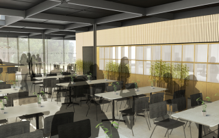 Internal dining. Image courtesy of Ryder Architecture.