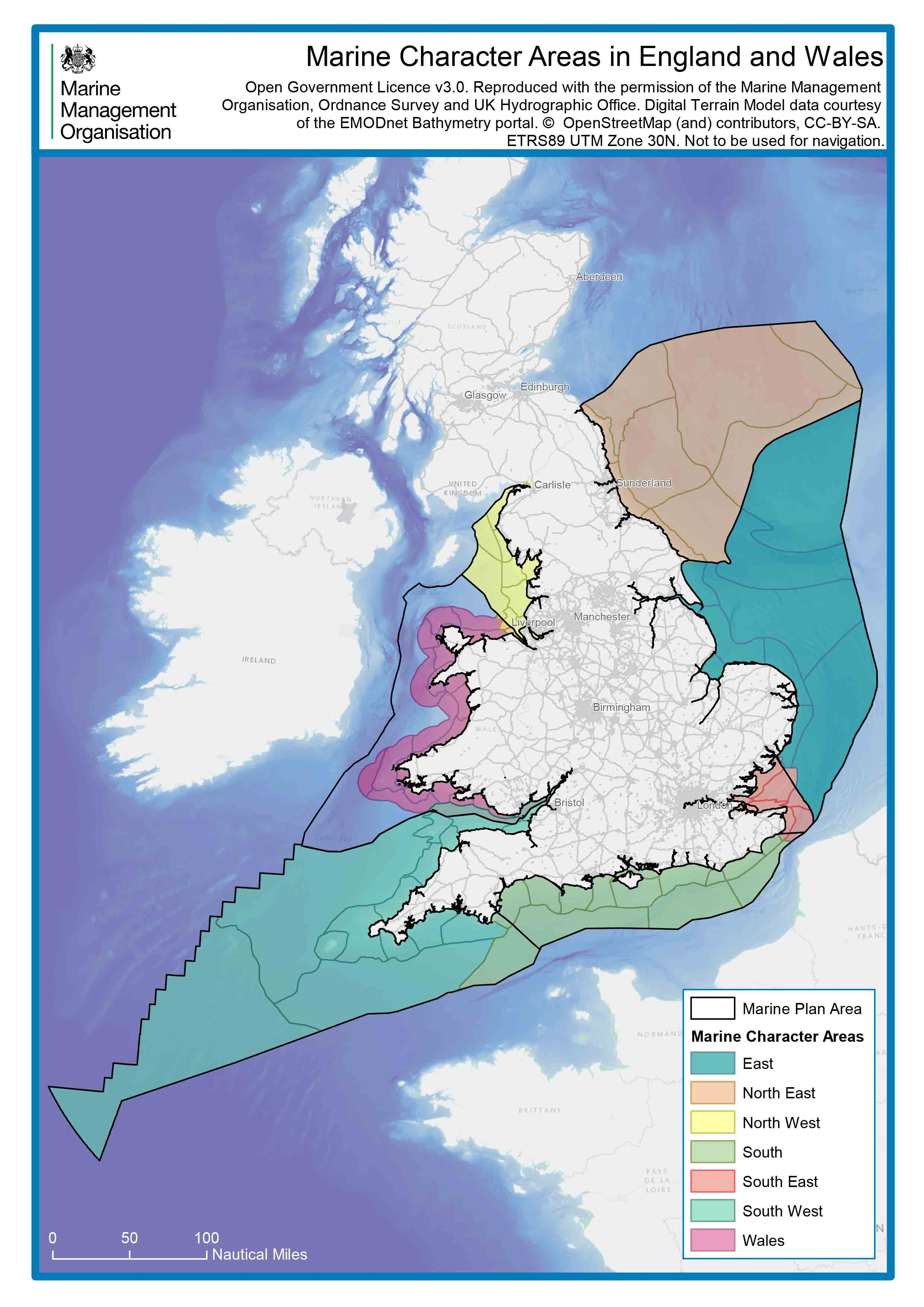 Map Of England Edinburgh.Luc S National Seascape Character Assessment For England Published