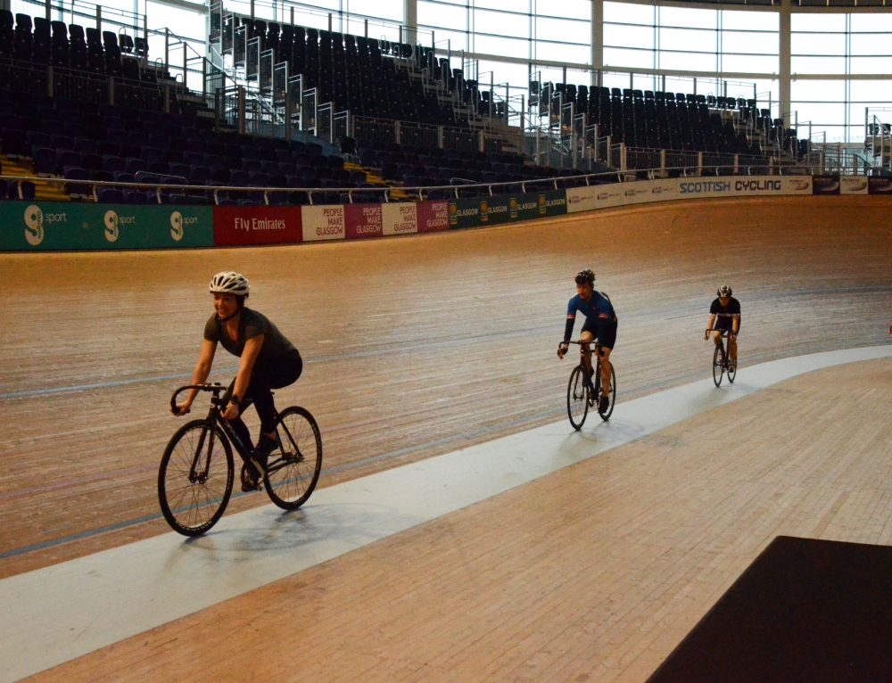 LUC and Scottish clients enjoy velodrome cycling session