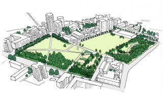 Sketch of Shoreditch Park by LUC