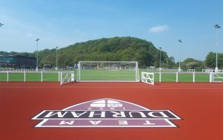 Maiden Castle – Freshly laid artificial surfacing for the multi-purpose pitches