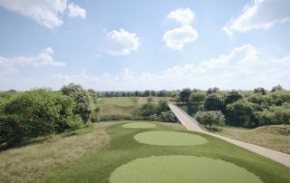 CGI from hole 13 of the proposed golf course at Hulton Park
